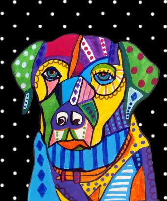 Labrador Retriever Dog Art Lab Print Poster of by CollectArtwork