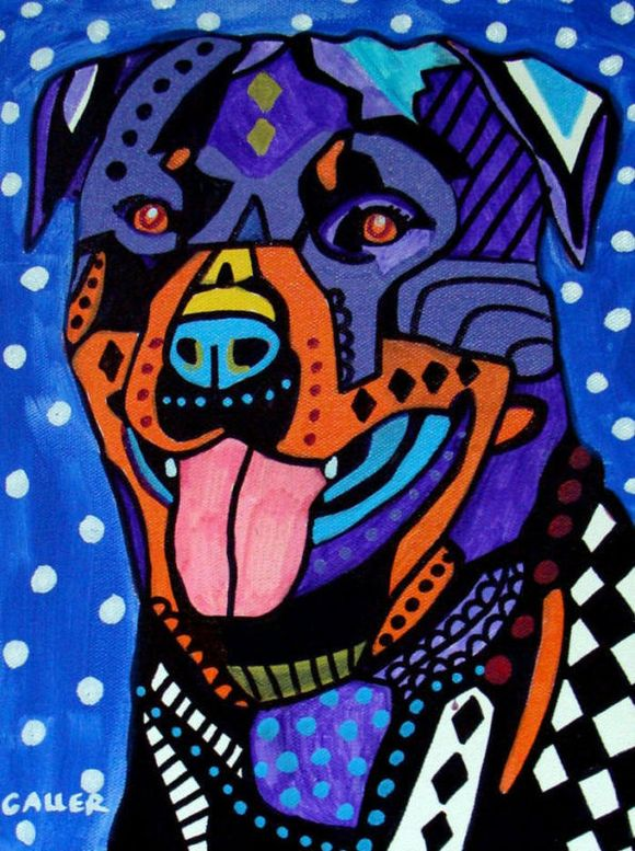 Heather Galler Dog Art Rottweiler Dog Art